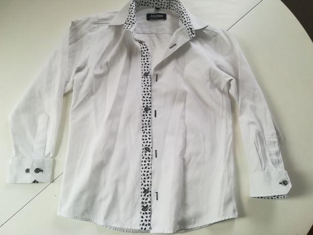 Elegancka biała koszula chłopięca, niebieska H&M, reserved