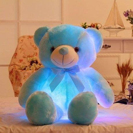 Мишка плюшевый светильник игрушка медвежонок ночник подушка