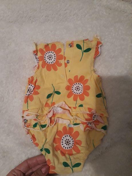 Бодик на новорожденную с рюшиками