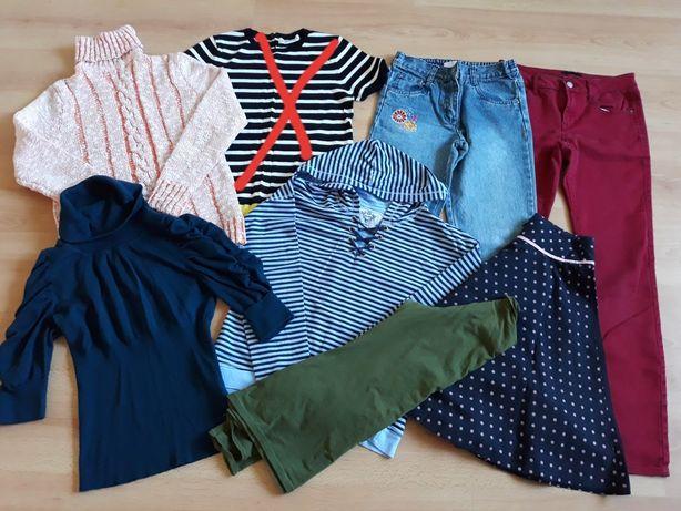 Пакет вещей на 10-12лет свитер кофта джинсы юбка кофточка.
