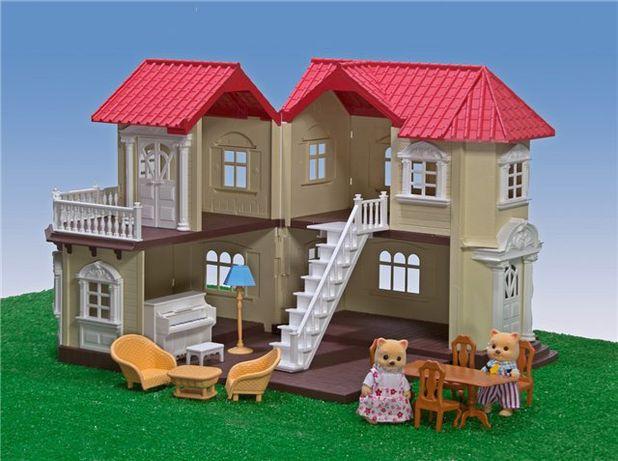 Домик для кукол флоксовые happy family сильвания Sylvanian Families