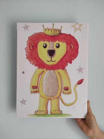 Tela infantil 30x40 NOVA leão