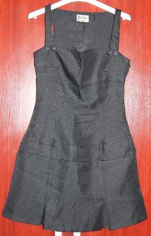 Sukienka czarna rozm.S-XS na szelkach