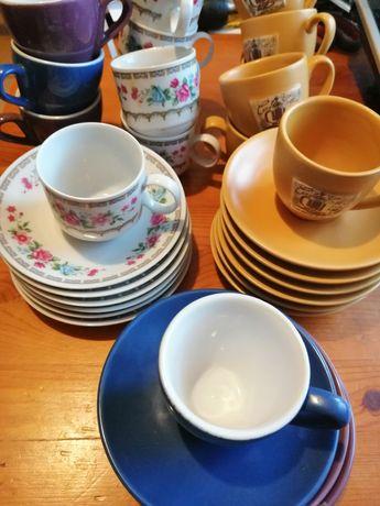 Porcelana Filizanka + Talerzyk do Kawy Espresso poj 100 ml