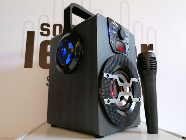 Boombox karaoke głośnik bluetooth radio mikrofon odtwarzacz MP3 aux