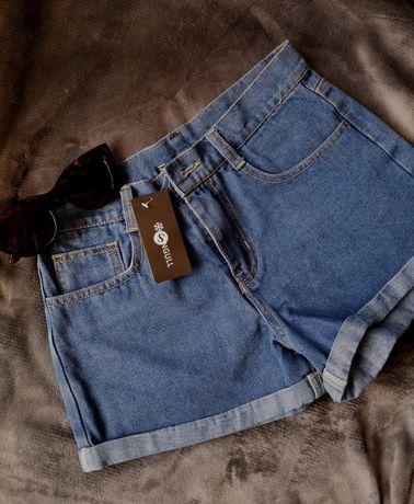 Nowe szorty dżinsowe z wysokim stanem xs