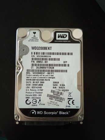 Disco rígido 320 gb