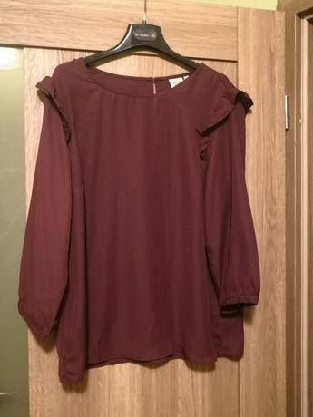 Bordowa elegancka koszula