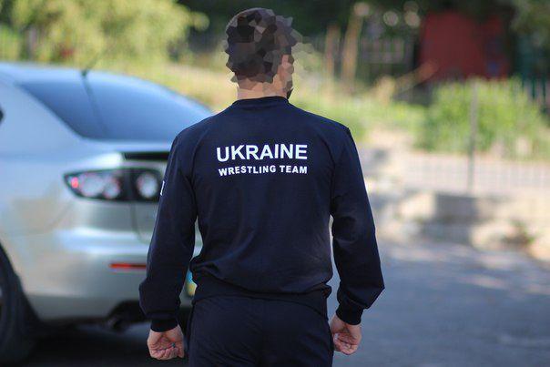 Костюм борцовский сборной Украины борцовское трико борцовки asics