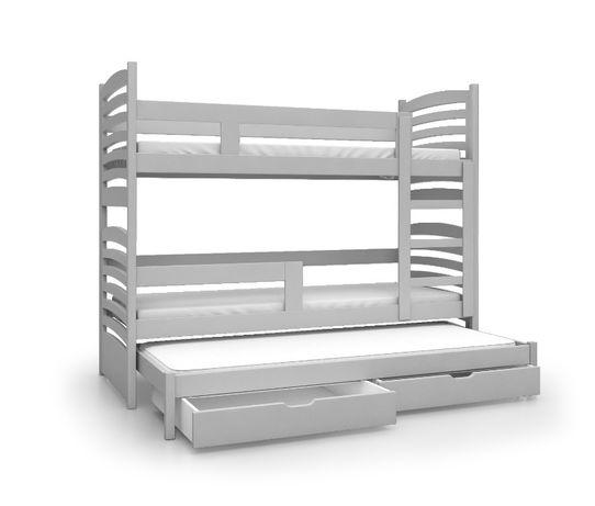 Eleganckie łóżko piętrowe OLI materace + szuflady ! NOWOŚĆ