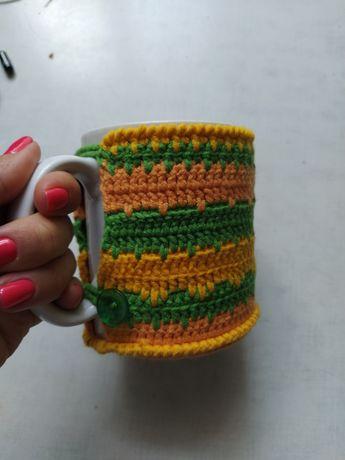 Чашкогрелка, декор для чашки; одежка для чашки