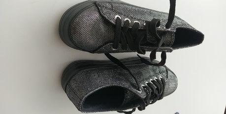 sapatos casual, com plataforma, com brilho, 38