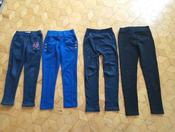 Spodnie 4 sztuki rozmiar 122  128 134