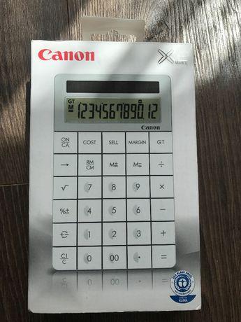 Kalkulator Canon, nowoczesny biały kalkulator