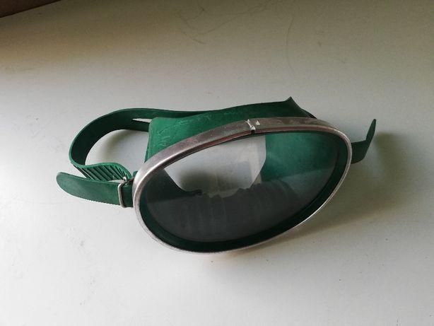 stare gogle okulary pływackie wodne zabytkowe dla płetwonurka