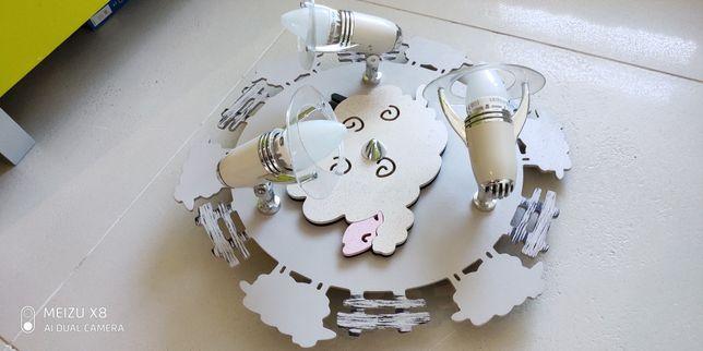 Nowodvorski Sheep III Plafon 4076  Lampa sufit pokój dziecięcy