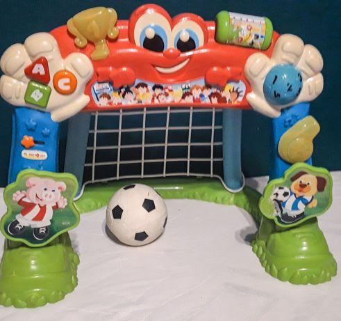 Bramka CLEMENTONI z miękką piłką zabawka śpiewa gra po polsku