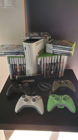 Xbox 360 + Jogos e Comandos