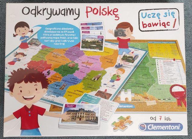 Zabawka edukacyjna - ODKRYWAMY POLSKĘ (Clementoni) - 15 zł