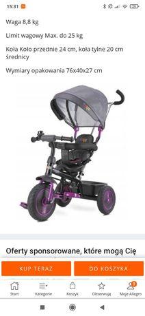 Rower trójkołowy-pchacz Toyz Buzz, wózek