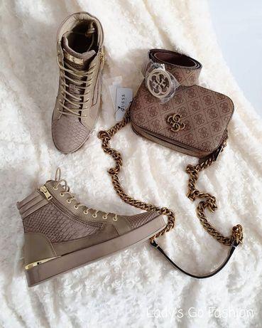 NOWE Sneakersy wysokie GUESS (wkładka: 26cm)