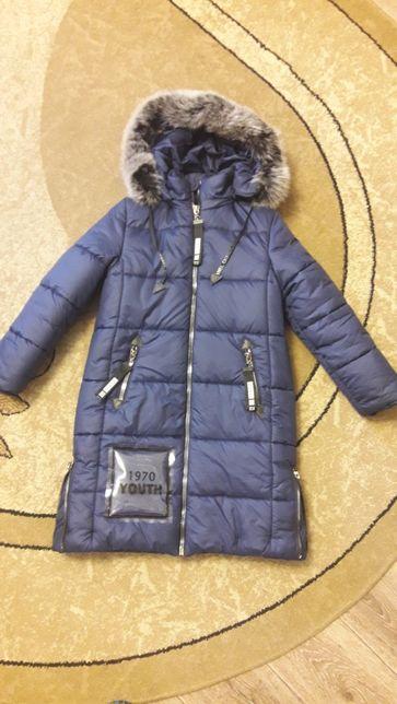 Красивое зимнее пальто ТМ Барбарис (для девочки)