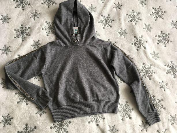 Sweterek Dziewczęcy Primark 128 -134 Bluza Kaptur