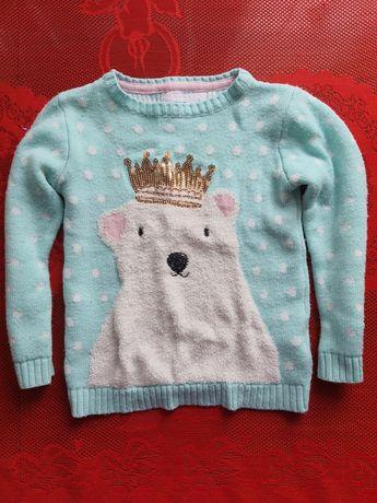 Тёплый свитер 5-6лет