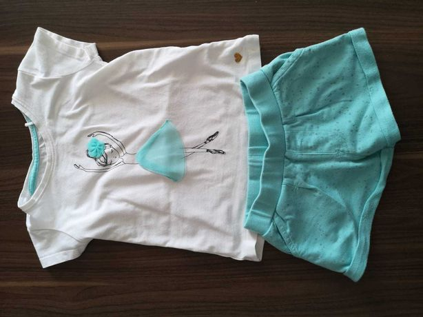 Spodenki + koszulka. Komplet. T-shirt 5-10-15