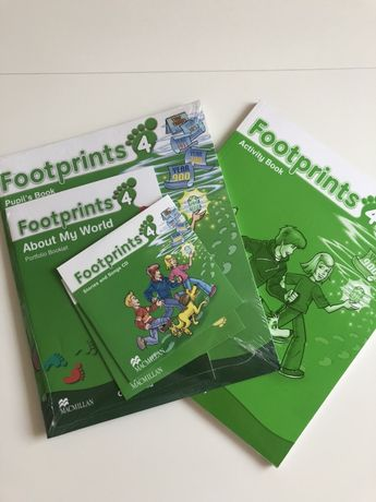 Zestaw książek do angielskeigo Foot Prints 4