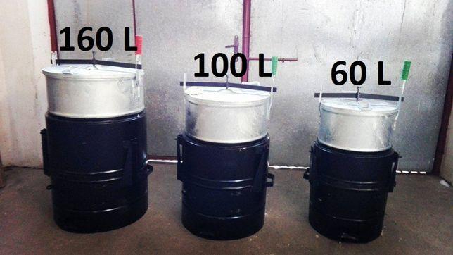 Parnik węglowy BLACHA 2,5mm Gruba 60l 100l 160l Szamot WYSYŁKA