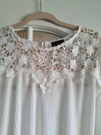 Белоснежная блуза с кружевом фирмы b.you ,размер 14.
