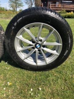Sprzedam alufelgi BMW X3 (F25) 225/60/R17 z czujnikami ciśnienia