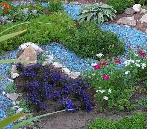 Камни цветные синие, 25 кг