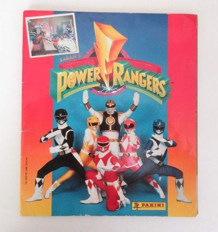 "Caderneta INCOMPLETA ""Power Rangers"""