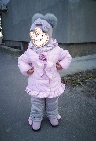 Зимний комплект куртка и комбинезон.