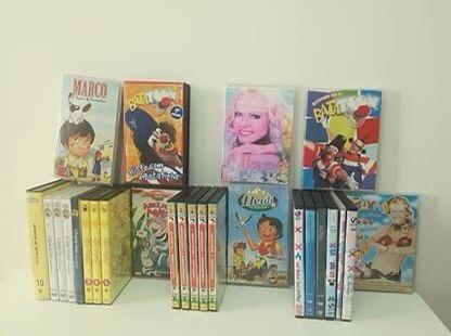 5 VHS e 21 DVD ( Rua sésamo, Marco, Hans Christian Anderson, Bataton,