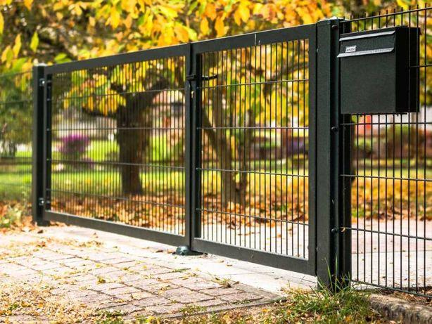 Brama ogrodzeniowa dwuskrzydłowa panelowa PRODUCENT
