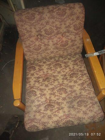 Fotele ogrodowe drewniane PRL
