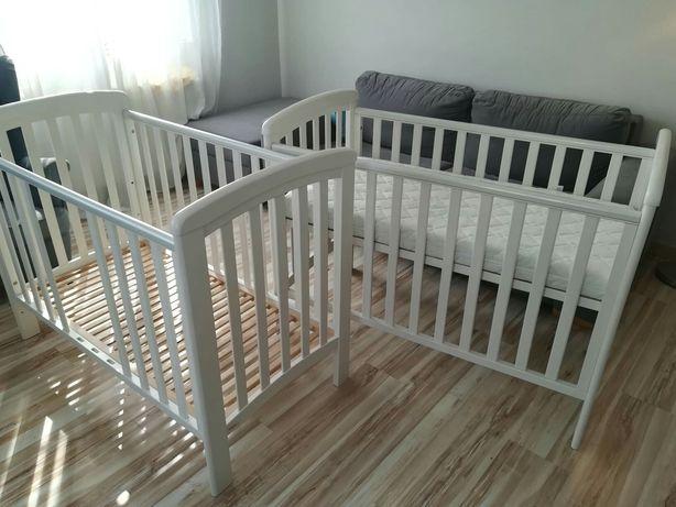Sprzedam dwa łóżeczka TROLL Nicole plus materace - zestaw TWINS