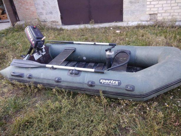 Моторная лодка Спортекс Шельф 270 + мотор Fisher 2.5