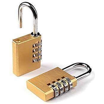 aloquete cadeado pack de 2 com código de 4 digitos