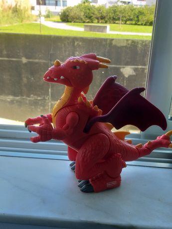 Brinquedo,  Dragão Fisher price, Ruge e com luzes