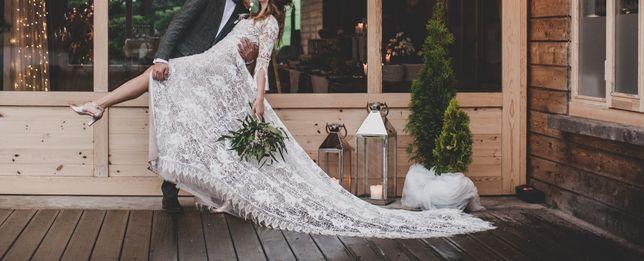 Suknia ślubna Rara Avis KORTAL boho, rustykalna, boho, koronki