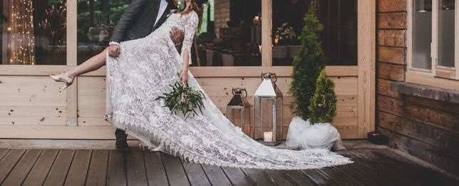 Suknia ślubna Rara Avis KORTAL boho, rustykalna, koronki