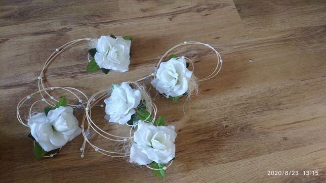 Ozdoby na auto ślub wesele kwiaty