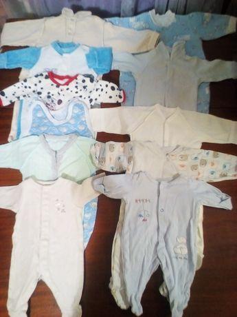 Вещи для деток от 0 до года бодики, человечки, ползунки