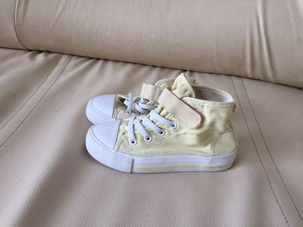 Buty buciki trampki tenisówki żółte rzepy H&M rozmiar 27/17 cm