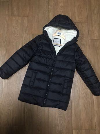 Теплая удлиненная куртка 128 см