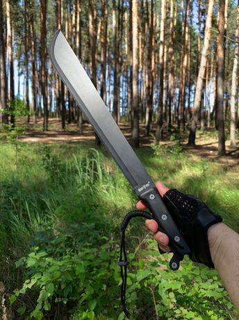 Код №931 Мачете 55 СМ! +Копия экспертизы/нож охотничий/тесак/кукри/